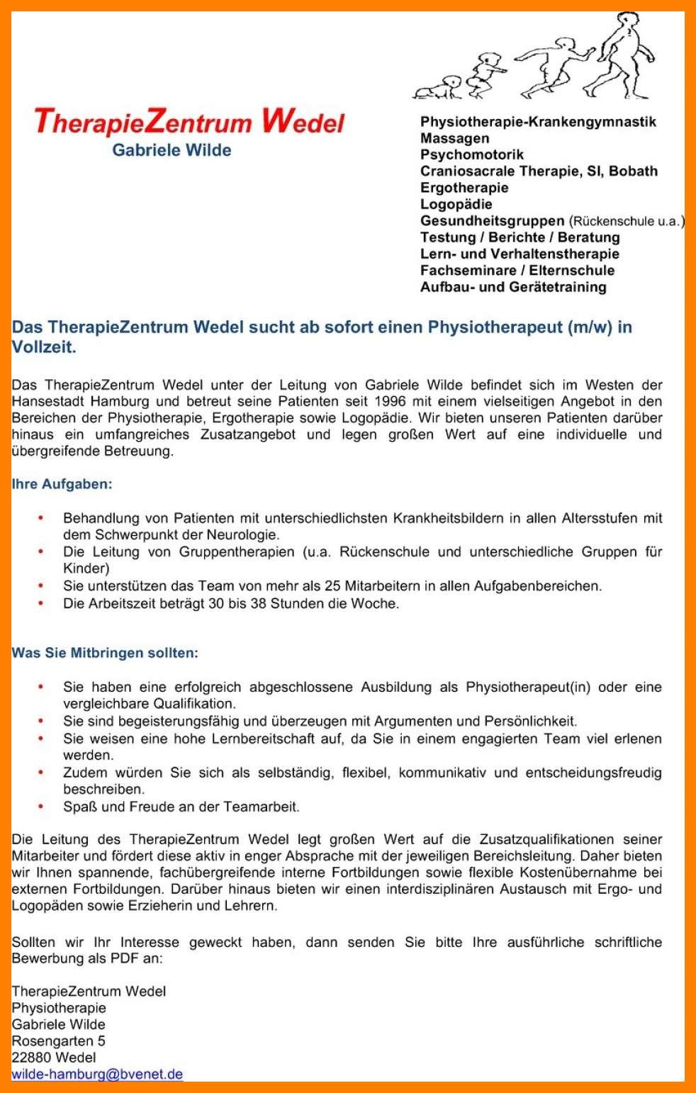 bewerbungsschreiben physiotherapie ausgezeichnet bewerbungsanschreiben physiotherapie berufsanfc3a4nger 58