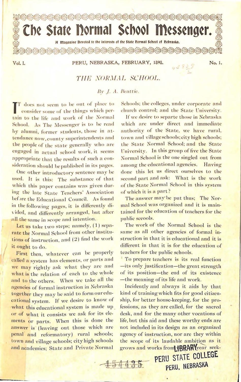 Maritime Deko Für Den Garten Genial 1898 1899 State normal School Messenger issues 1 7 by Peru
