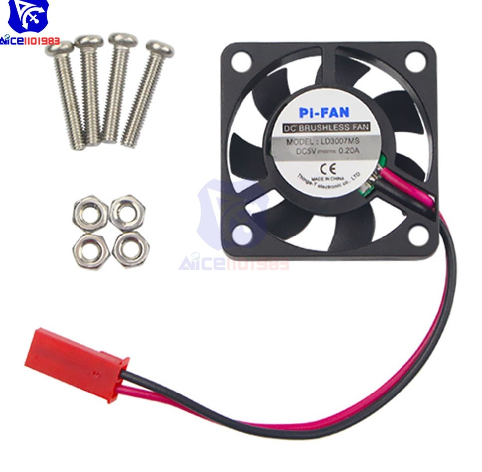 1Pcs DC 5V 0 2A Cooling Cooler Fan For Raspberry Pi Model A B B FOR