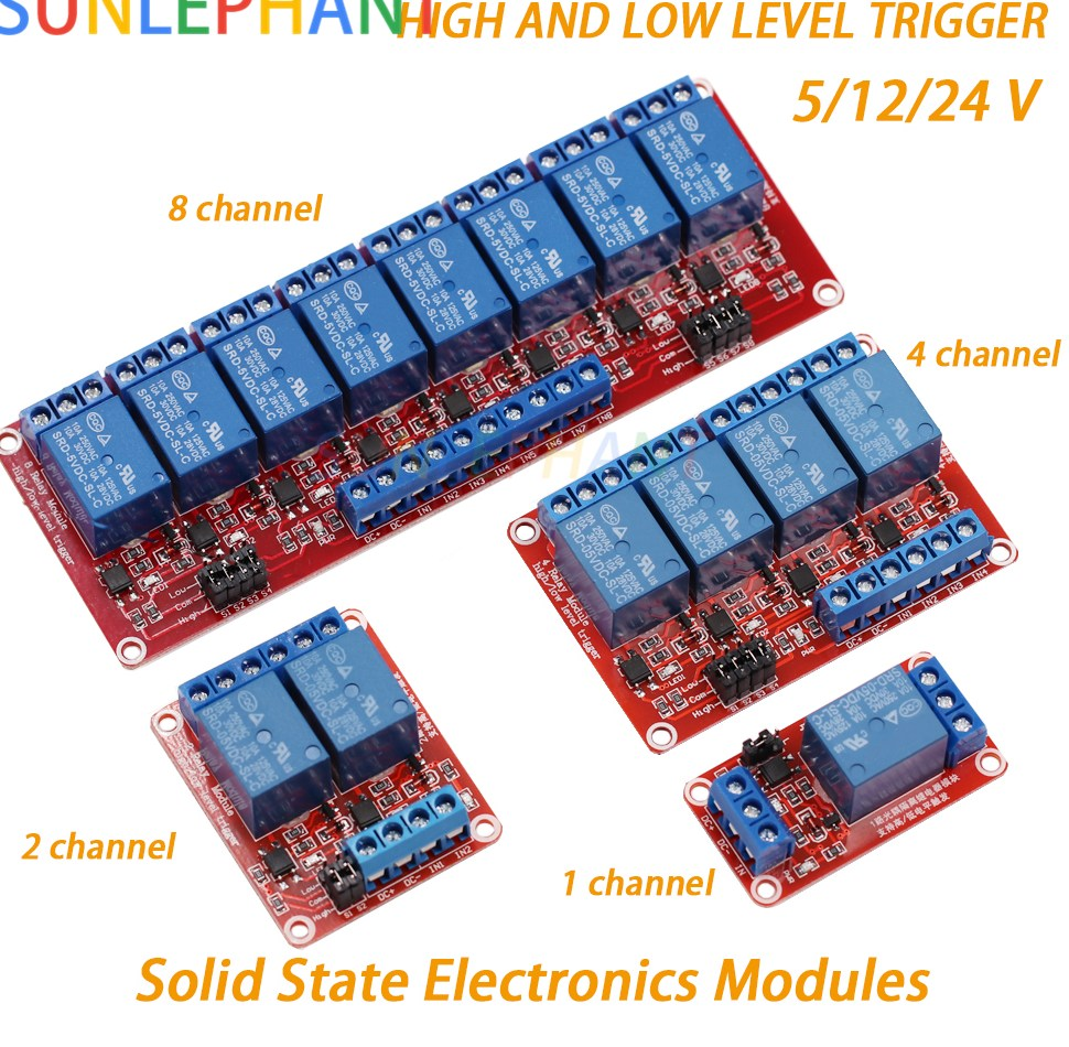 1 font b 2 b font 4 8 Channel 5V 12V 24V Relay Module Board Shield