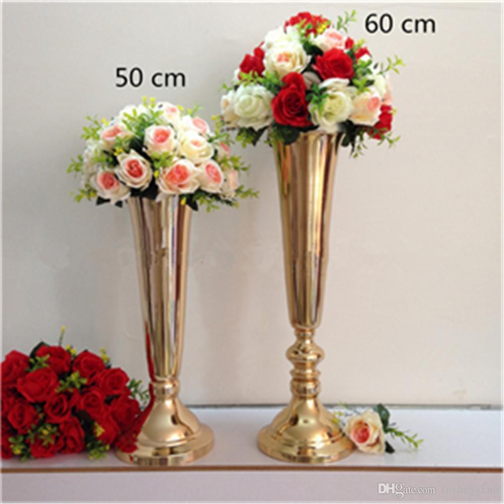 silber gold berzogene metall tisch vase hochzeit