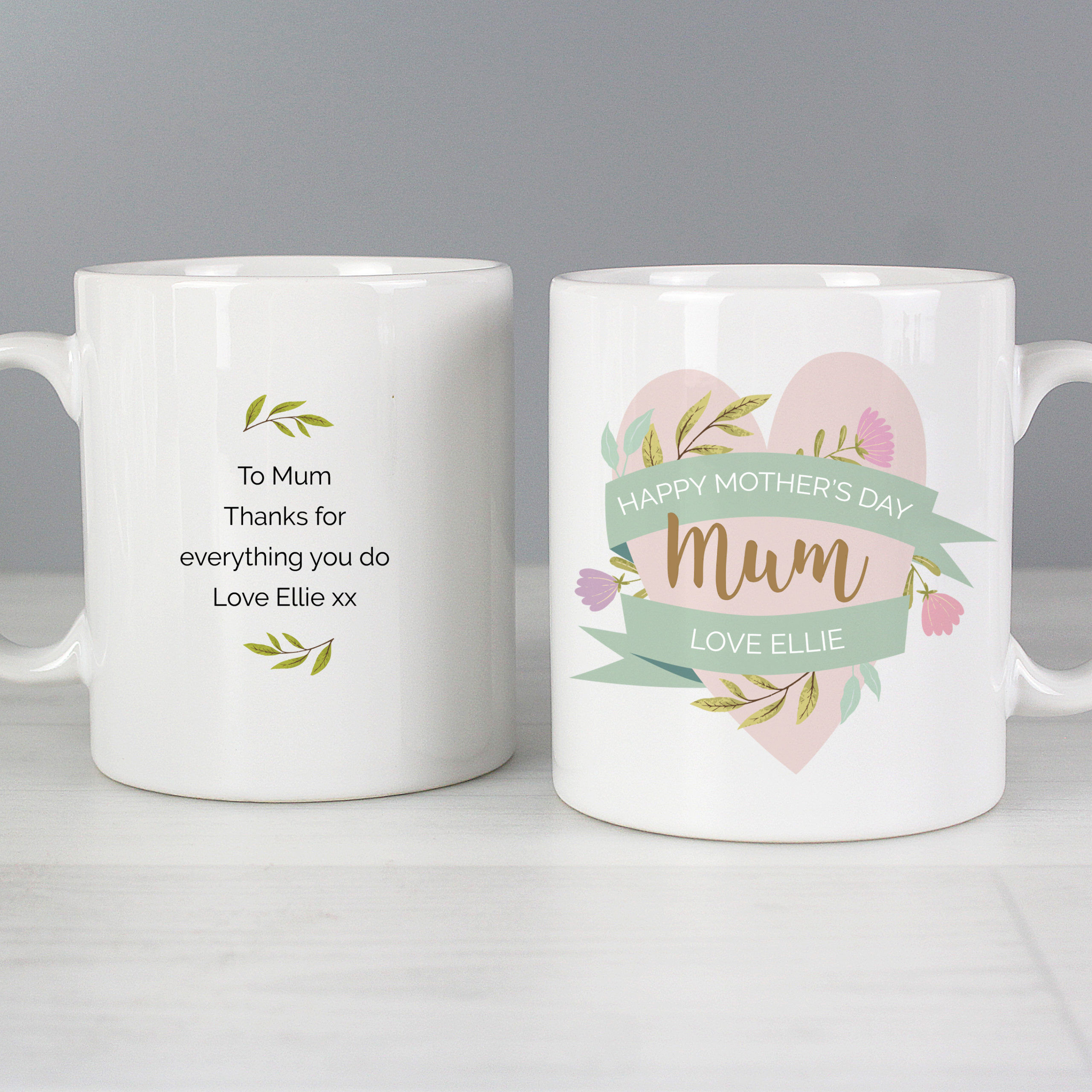 Personalised Gift Floral Mothers Day Mug in Cheshire scaled