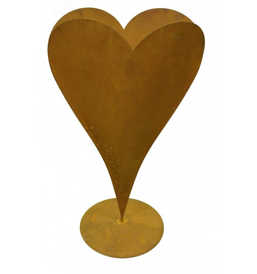 edelrost pflanzherz schlicht hohe 70 cm harmonisches homedeko aus rostigem metall von metallmichl