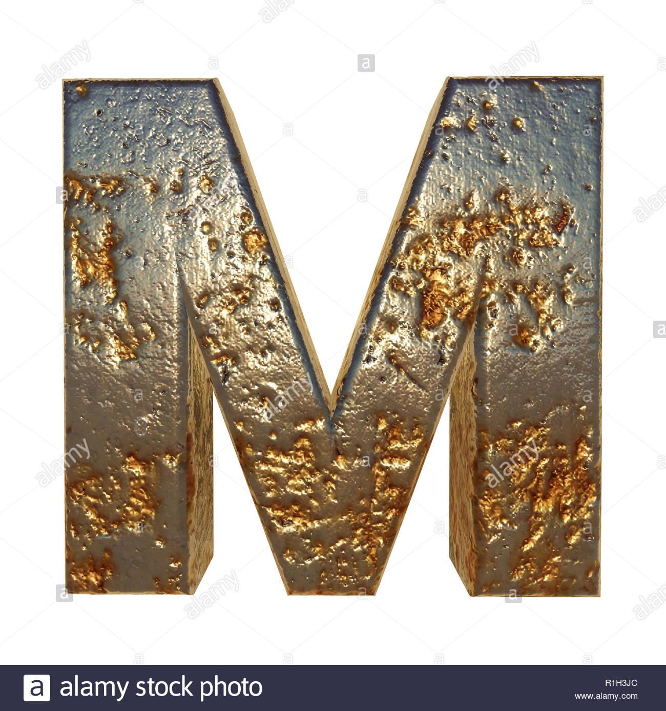 rostiges metall schreiben font 3d rendering r1h3jc
