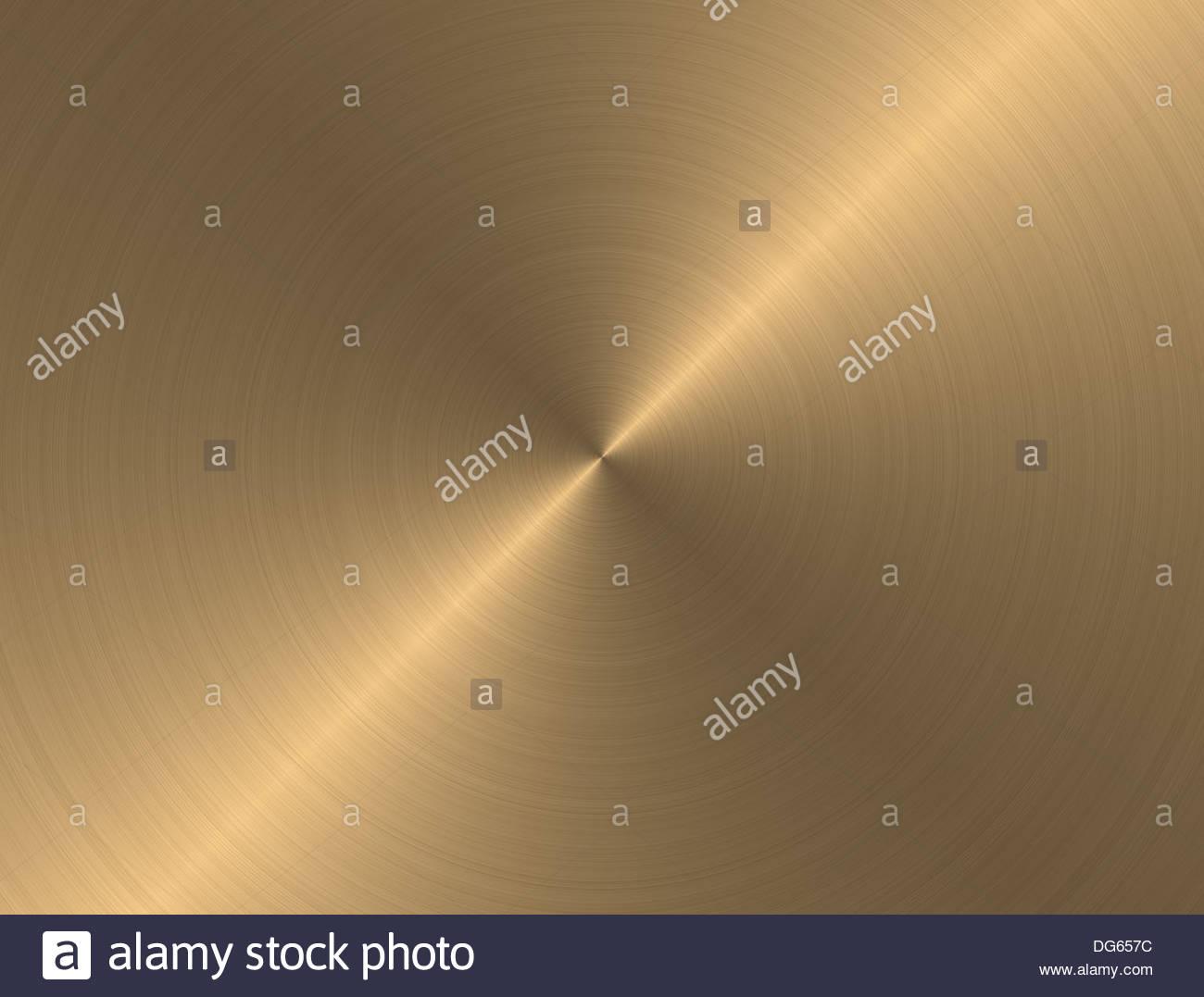 gold metall hintergrund mit realistischen kreisformig geburstet textur dg657c