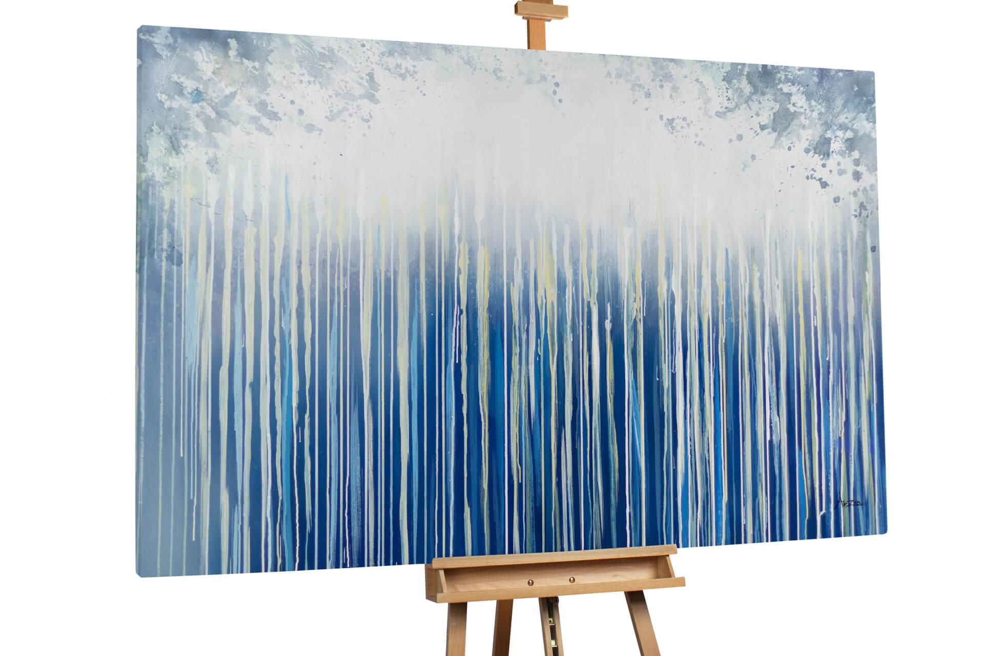 kl abstrakt regen grau blau oel gemaelde oel bilder handgemalte unikate moderne kunst 1 01