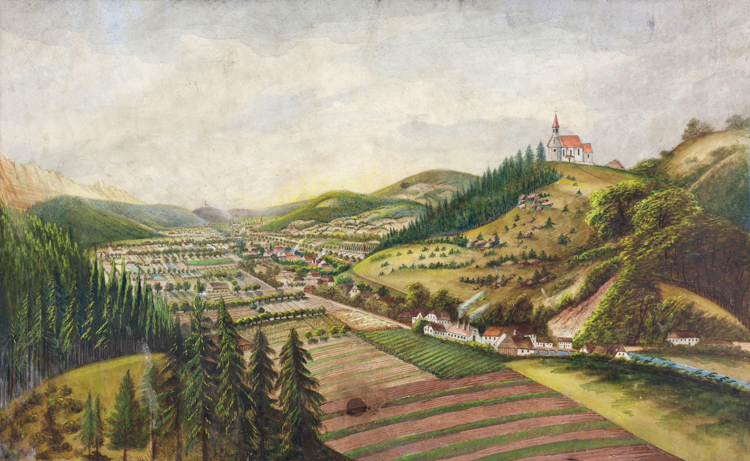 Micheldorf von Süden 19 Jahrhundert