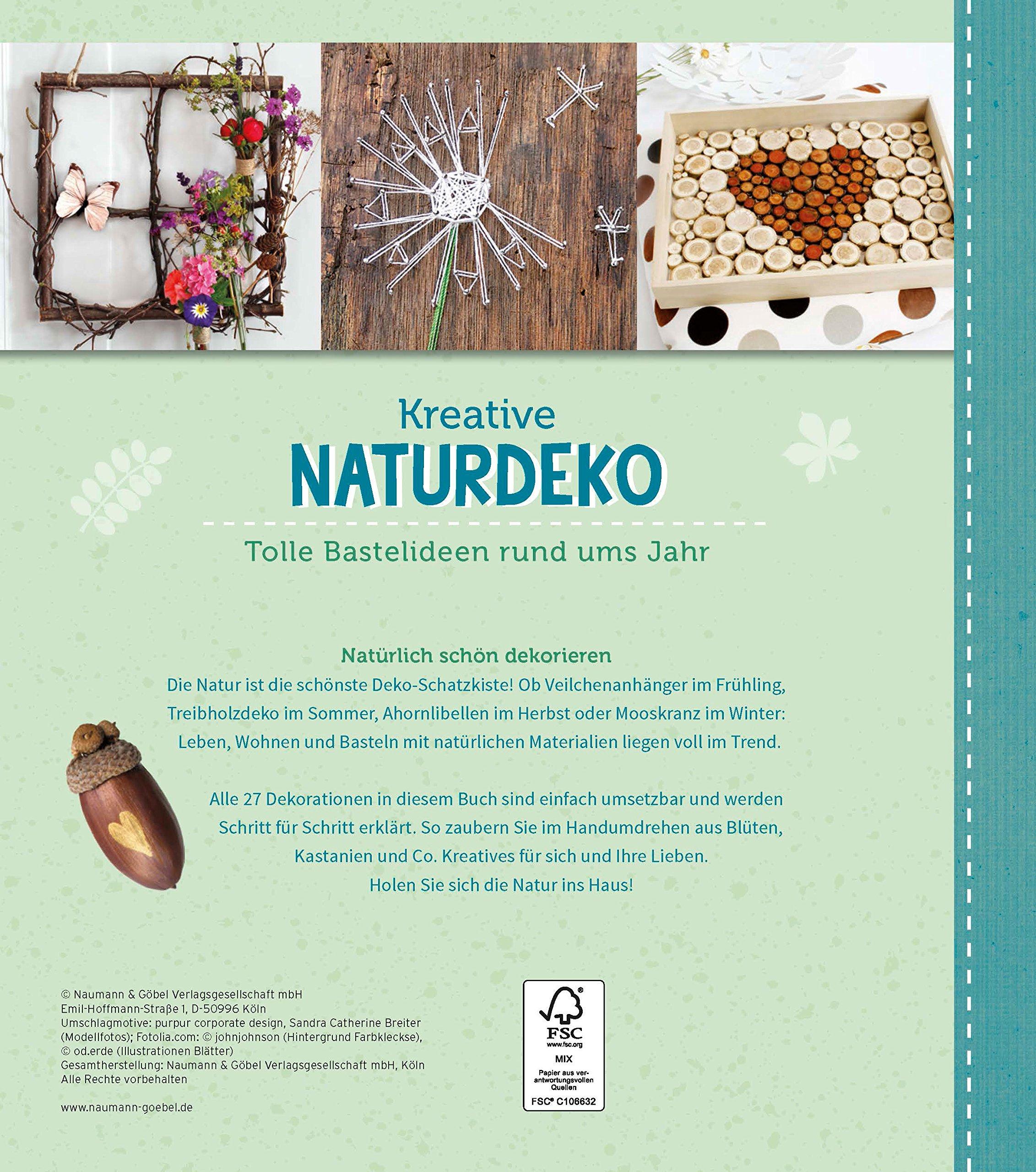 Naturdeko Holz Inspirierend Kreative Naturdeko Amazon Books