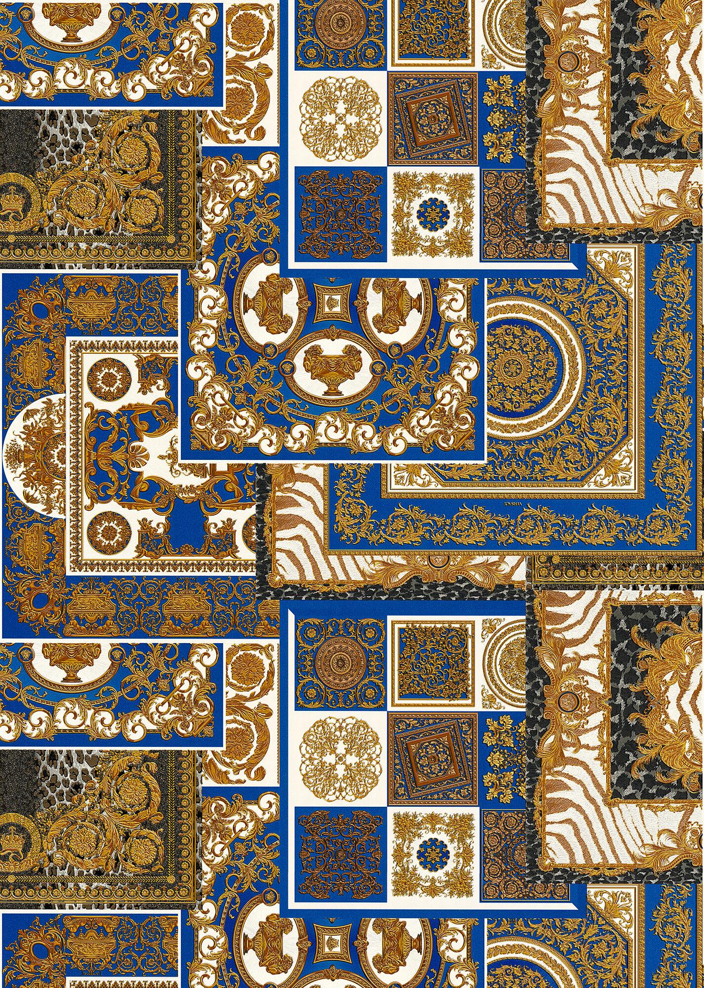 90 WY W1 WYNUL 20 BlueDcoupagePrintWallpaper Wallpaper versace online store 0 2