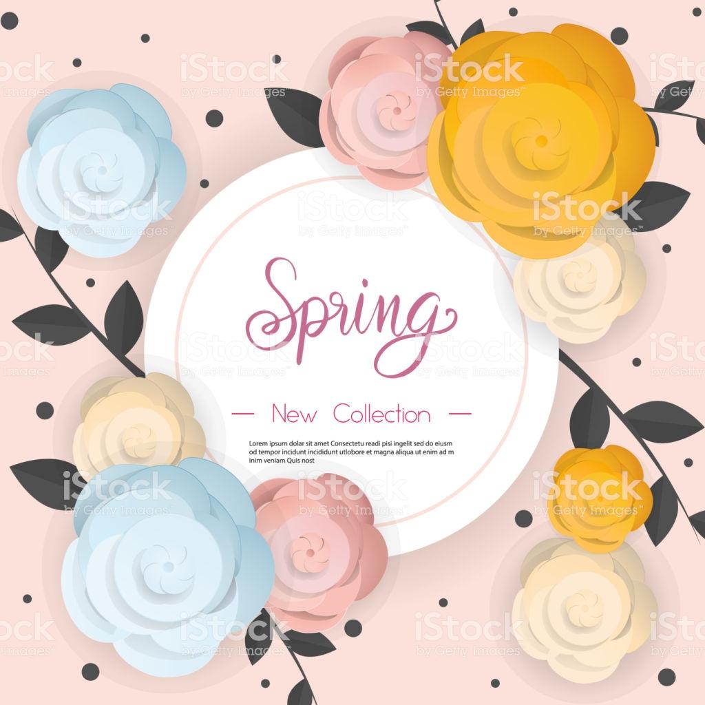 spring flower sale promotion poster spring banner for online shopping vector id