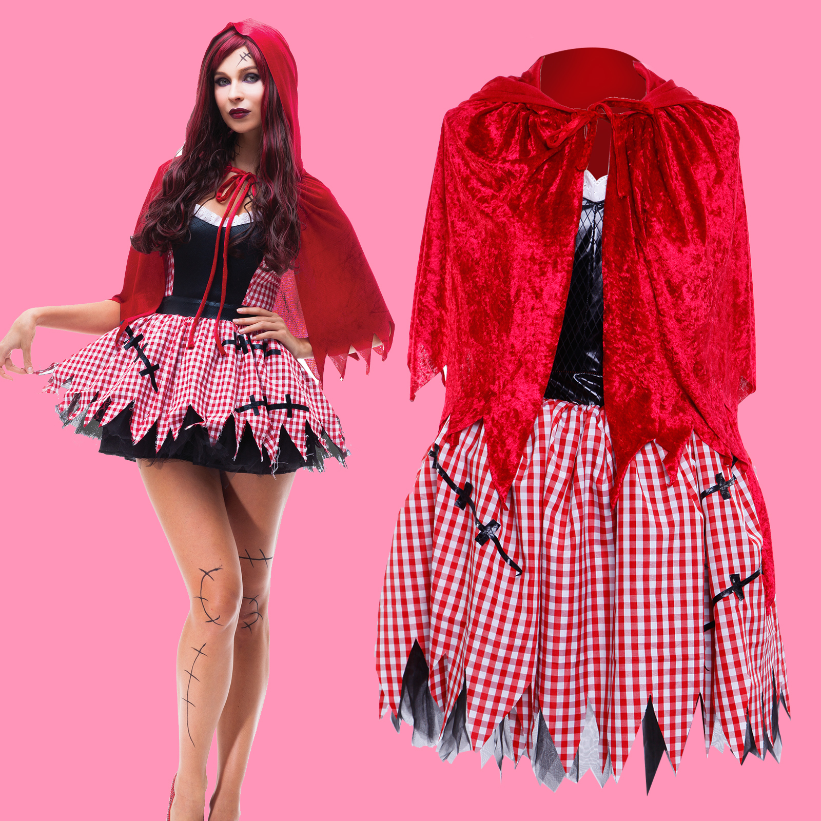 womens little red riding hood peasant halloween