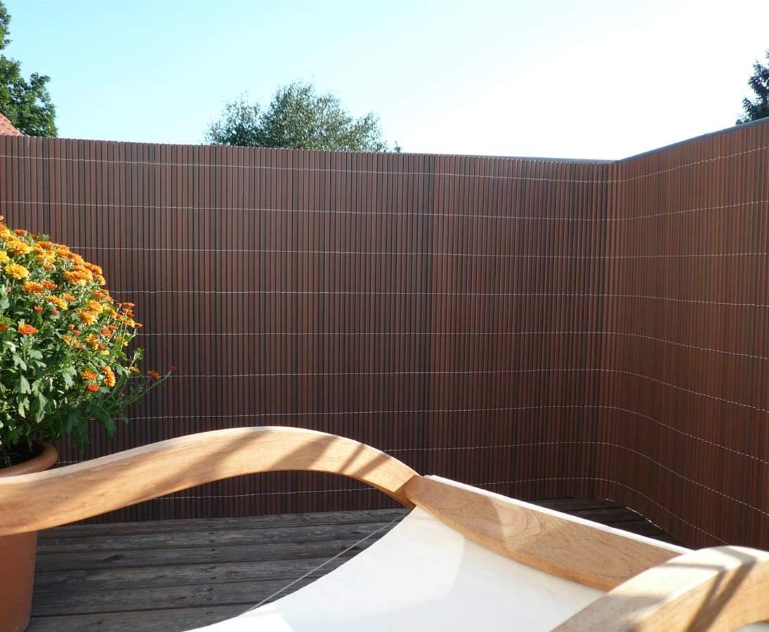 holz sichtschutz garten luxus zaun sichtschutz quotsyltquot mit 180 x 300cm nussbaum of holz sichtschutz garten