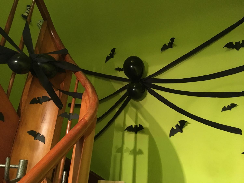spinnen und fledermaeuse fuer halloween party