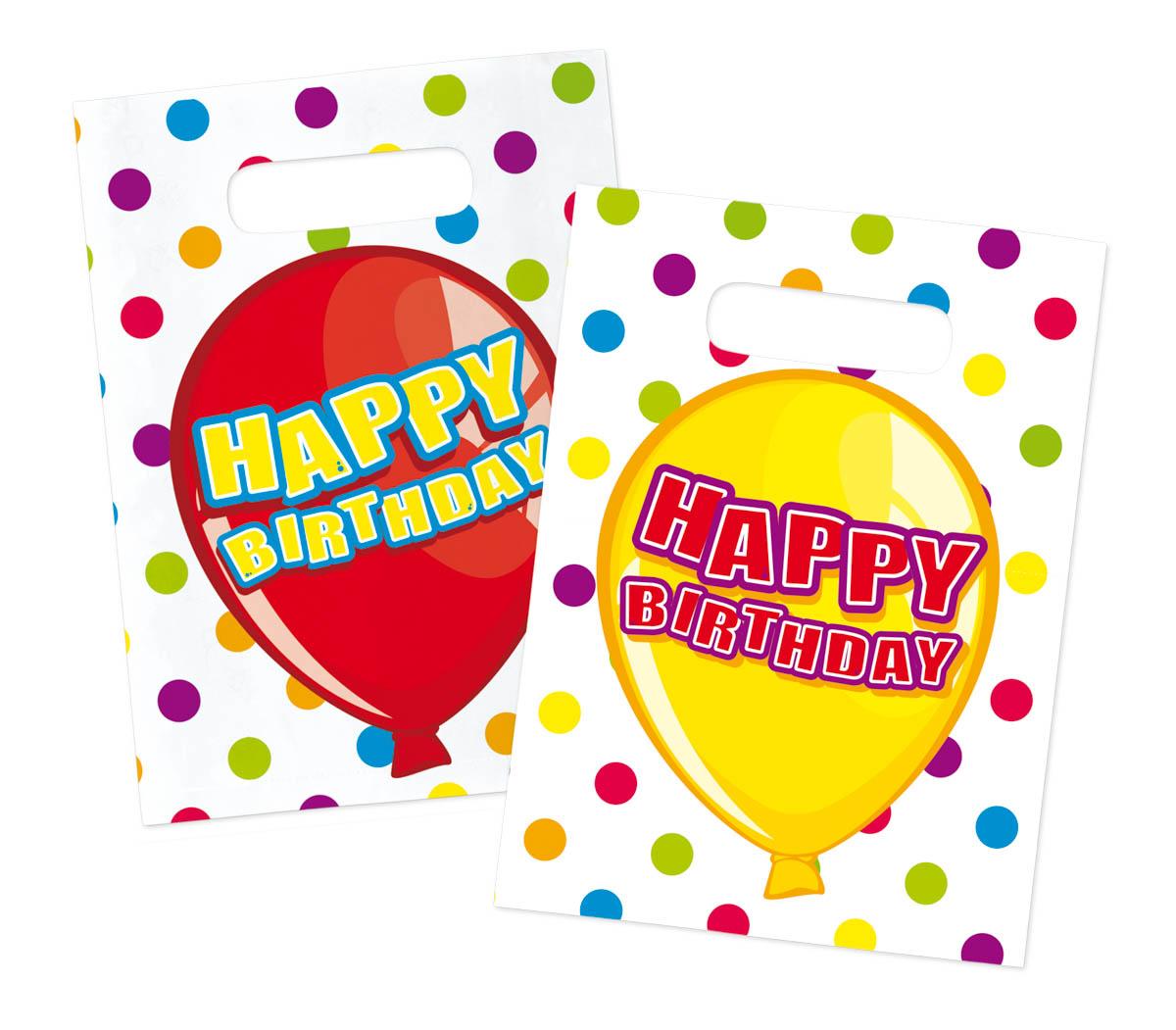 happy birthday partytute mitgebsel partybeutel 6 stuck 89
