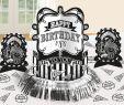 Party Deko 30 Geburtstag Neu Black & White Birthday Tischdeko Set