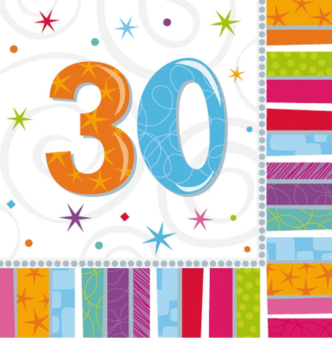 bunte regenbogen serviette zum 30geburtstag 16 stueck 1xykpToq7dN7Ub 600x600 2x