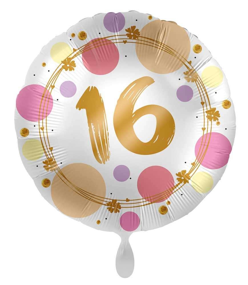 Party Deko 30 Geburtstag Schön 16 Geburtstag Ballon Happy Dots 71cm