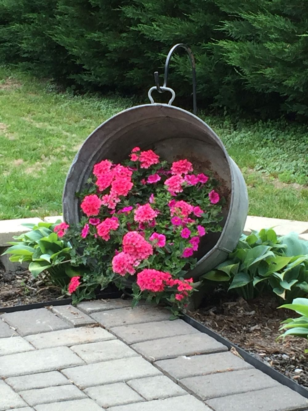 Pinterest Garten Frisch Hanging Washtub with Flowers Saw This On Pinterest Years