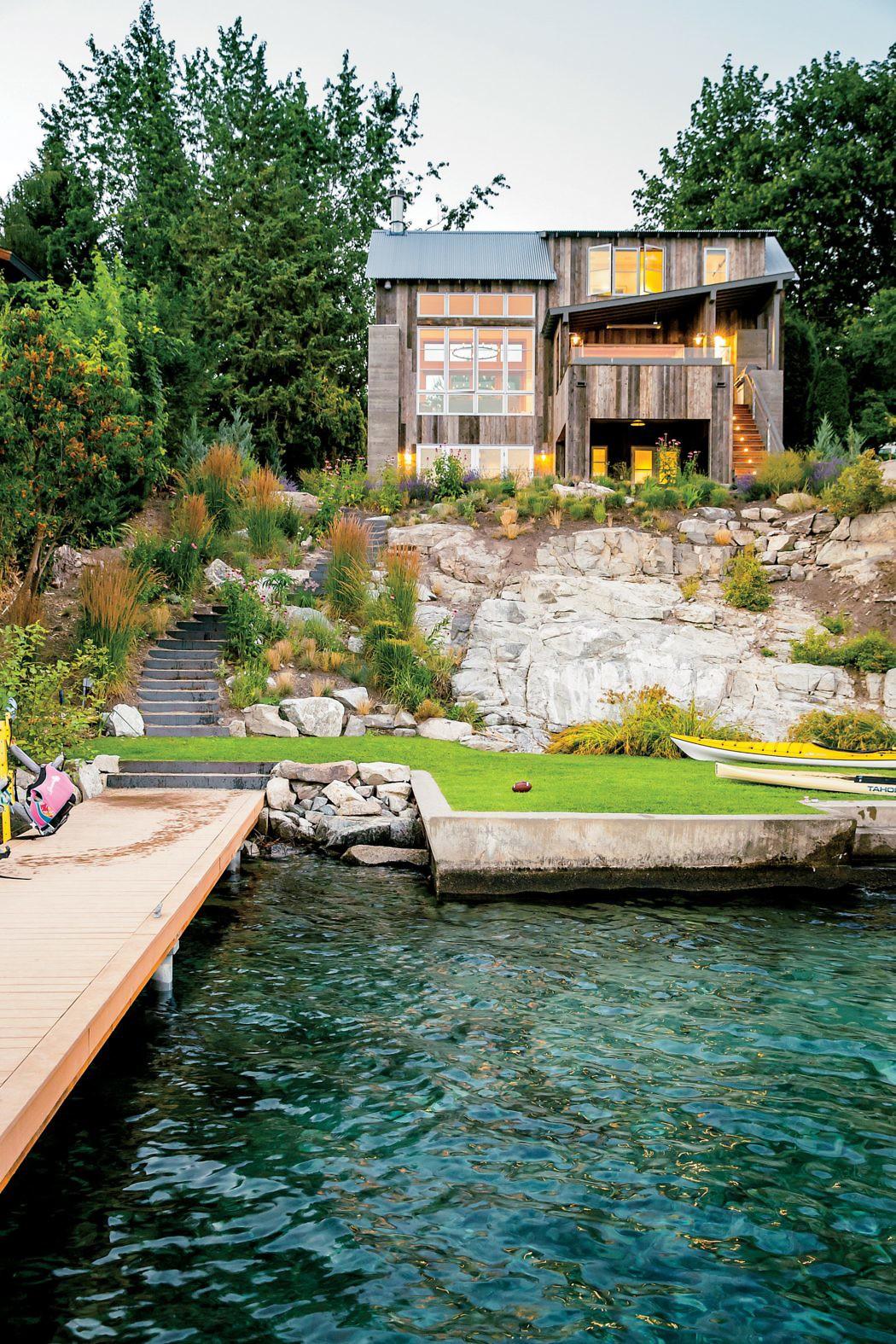 Pool Garten Gestaltung Neu Трехэтажный дом у озера — Дизайн интерьера Красивые