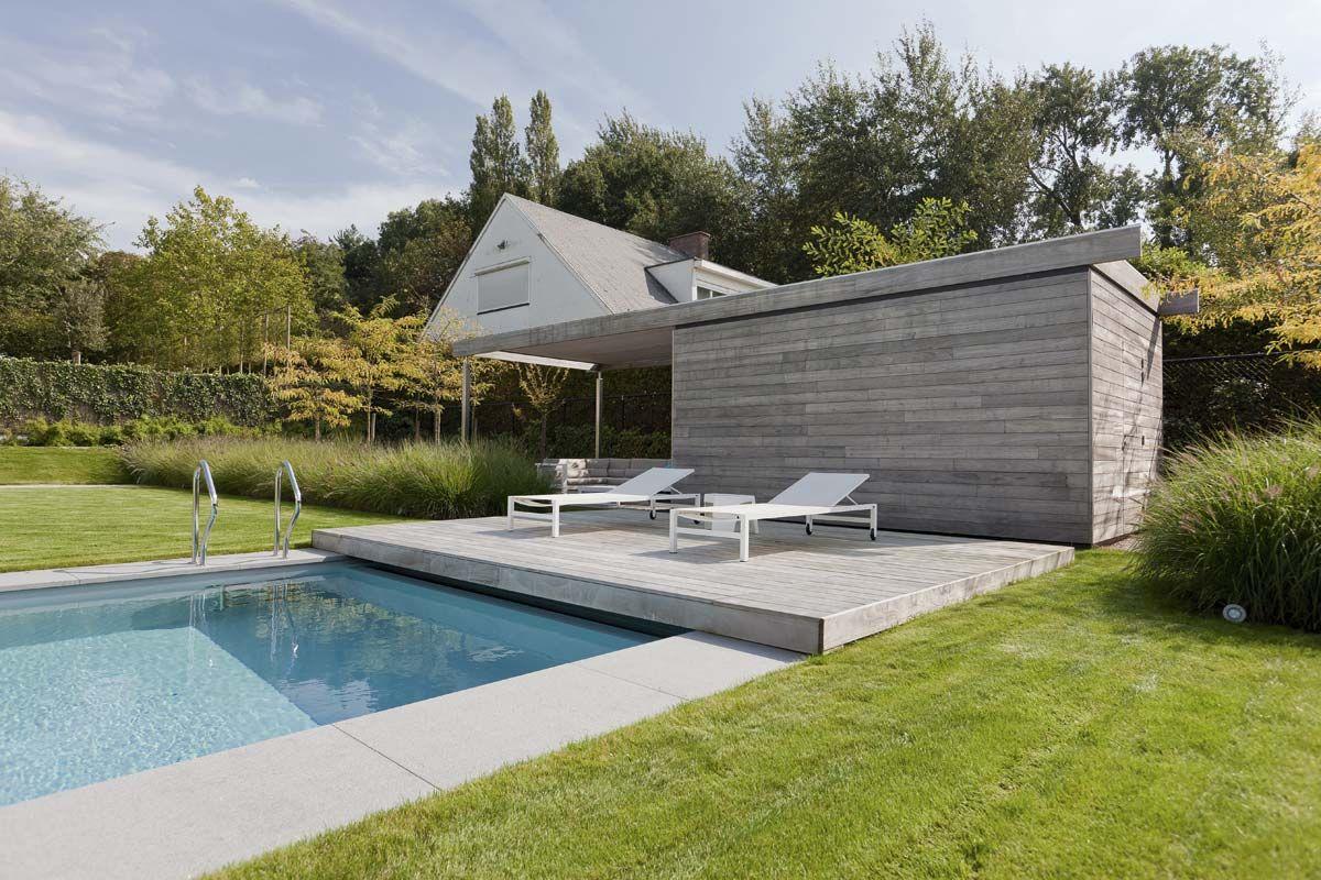 Pool Garten Gestaltung Schön Grote Strakke Tuinen Filip Van Damme