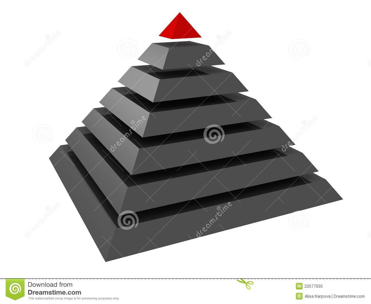абстрактная пирамидка руководителя иерархии принципиальной схемы 3d