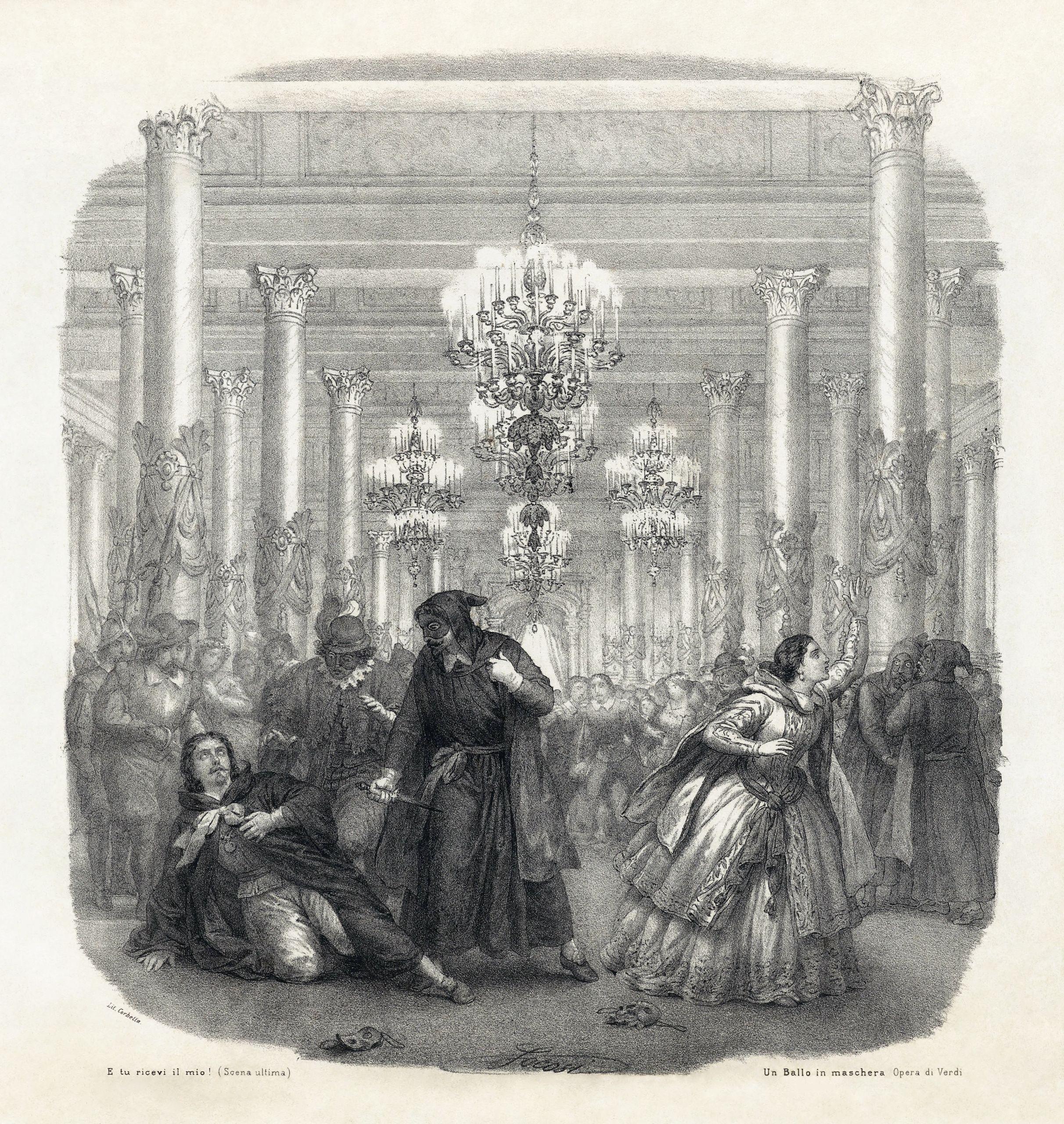 Giuseppe Verdi Un Ballo in maschera Vocal score frontispiece restoration