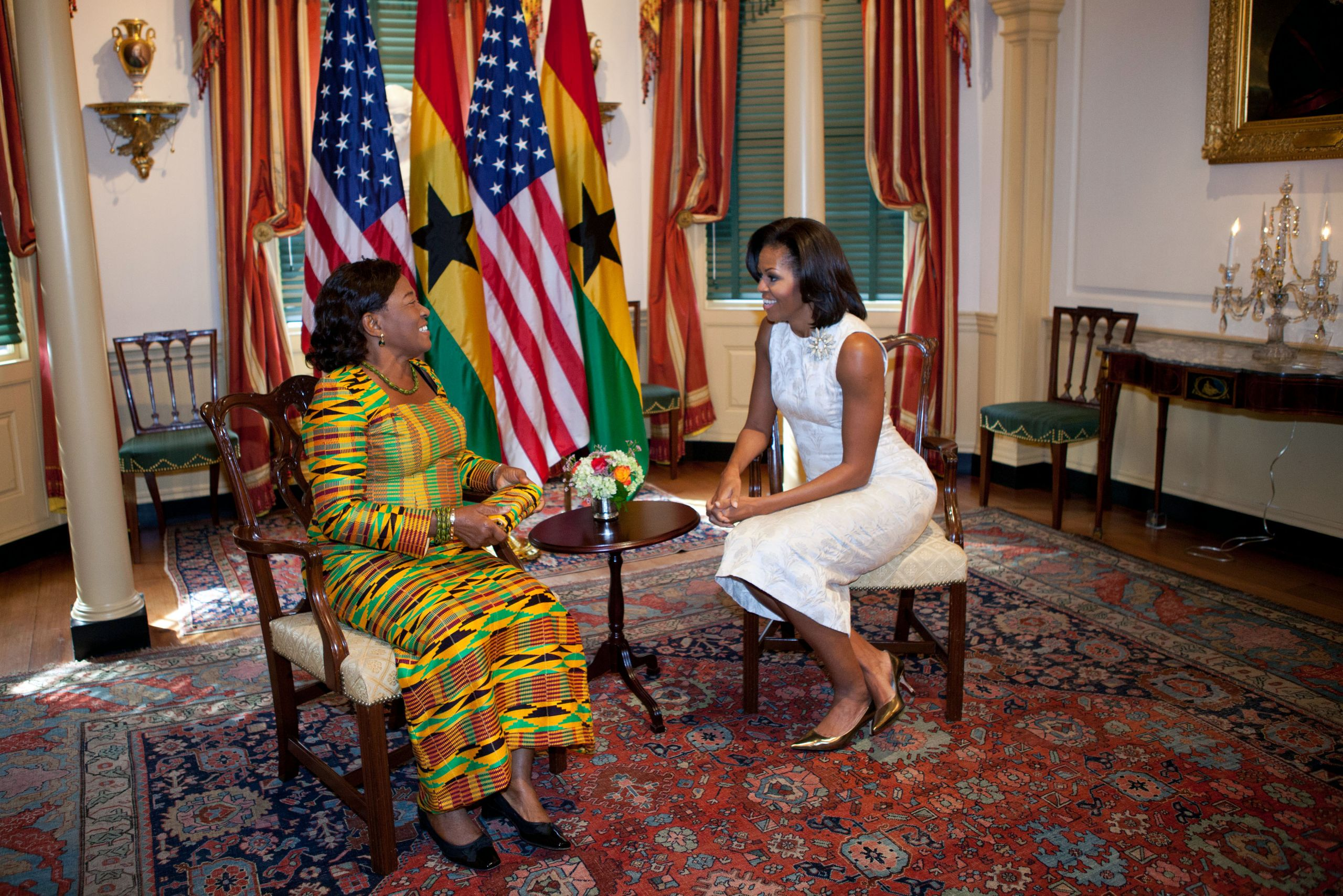 Ernestina Mills and Michelle Obama