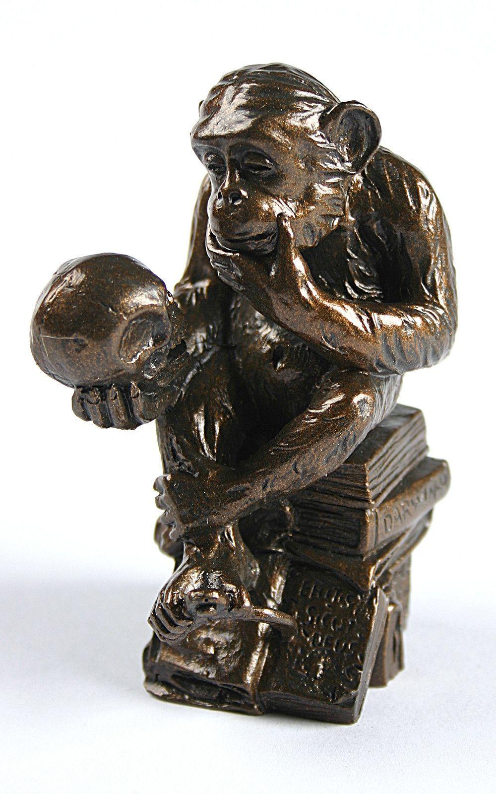 Rost Skulptur Garten Elegant Pocket Art Rheinhold Monkey with Skull Philosophizing