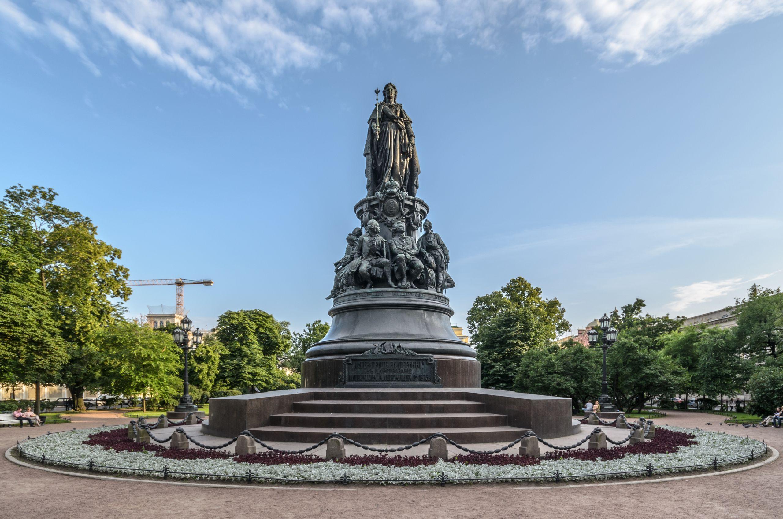 Monument to Catherine II in SPB