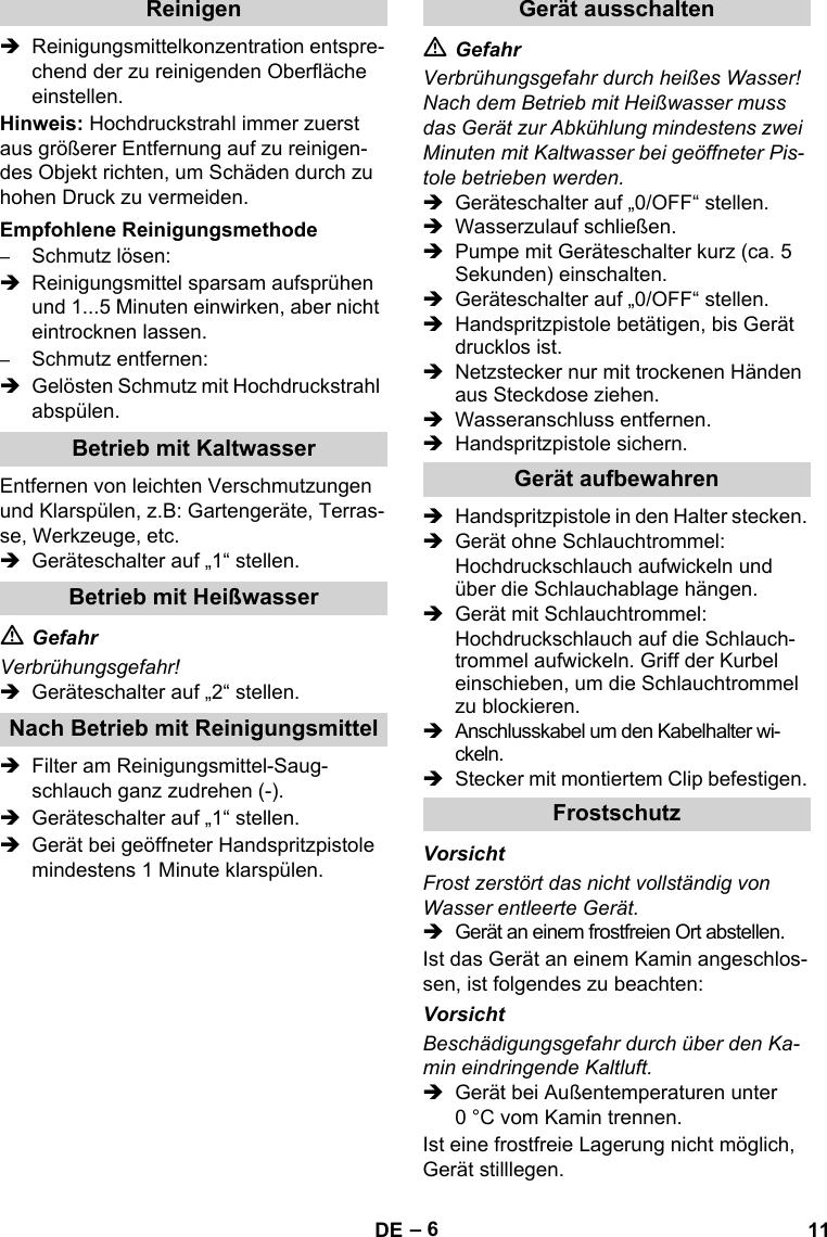 KarcherHds513UUxUsersManual User Guide Page 11