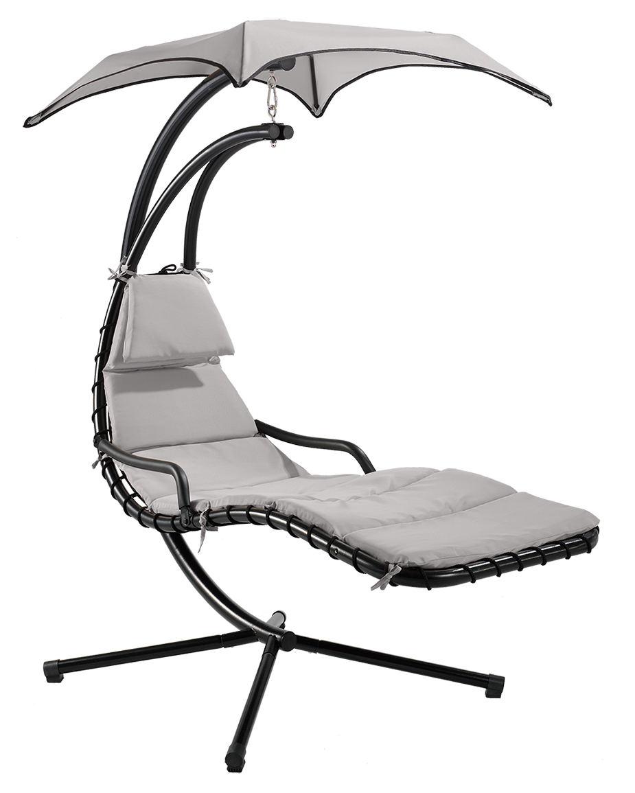design haengeliege hawaii schwebeliege relaxliege schwingliege schaukelliege inkl sonnensegel polsterauflage und kopfkissen 9