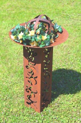 kugel rost edelrost aus metall beetdeko deko kugel gartendeko pflanzdeko rost durchmesser ca 20cm