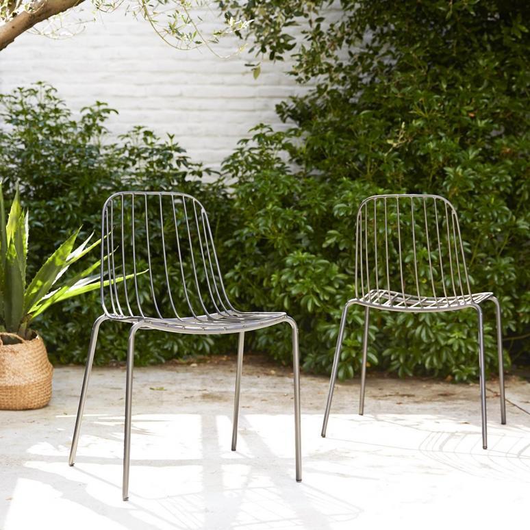 art outdoor stuhl aus metall dunkelgrau arty grey 3157