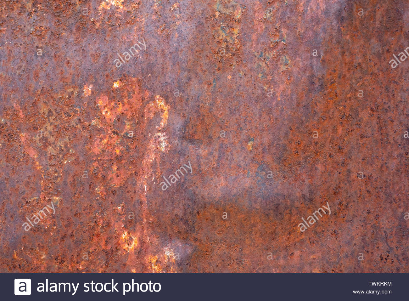 close up rust on surface of the old iron rusty metal steel metal sheet board abstract art background TWKRKM