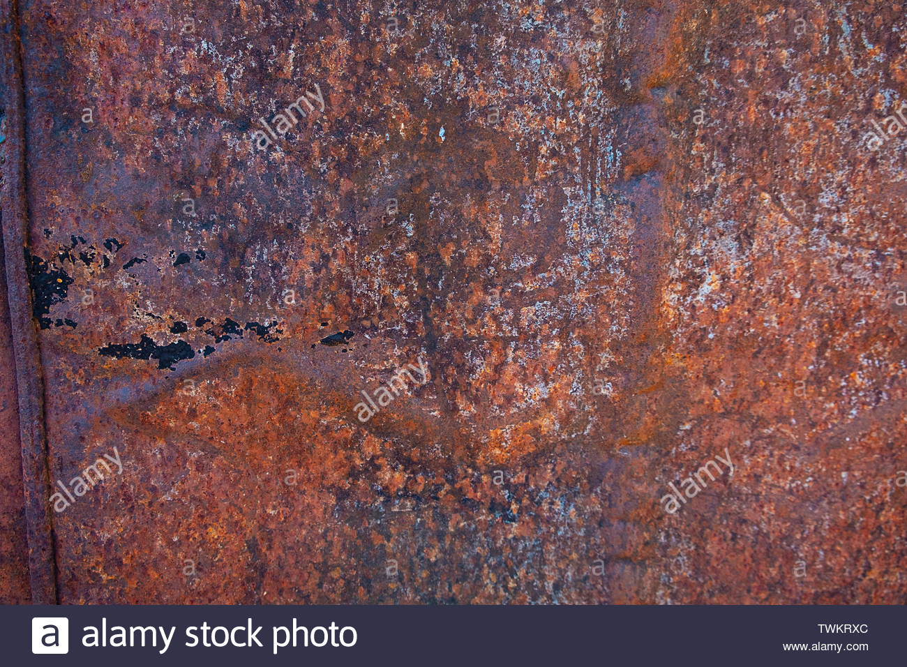 close up rust on surface of the old iron rusty metal steel metal sheet board abstract art background TWKRXC