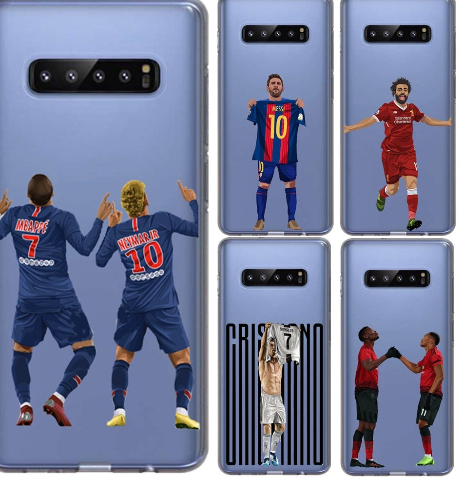 Griezmann Salah Dybala Neymar jr font b Ronaldo b font CR7 Soft Phone Cases Cover For