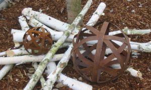 8 Inspirierend Rostkugeln Garten