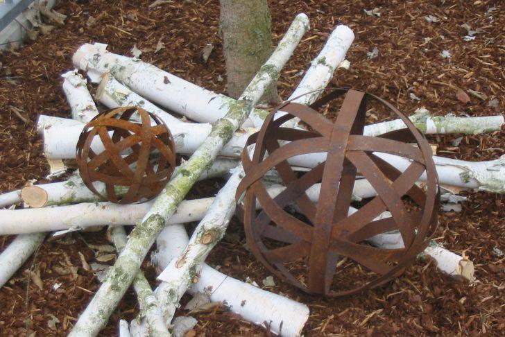 Rostkugeln Schön Edelrost Von Rostikal Größe 2 Gartenkugeln Rost Kugeln Aus