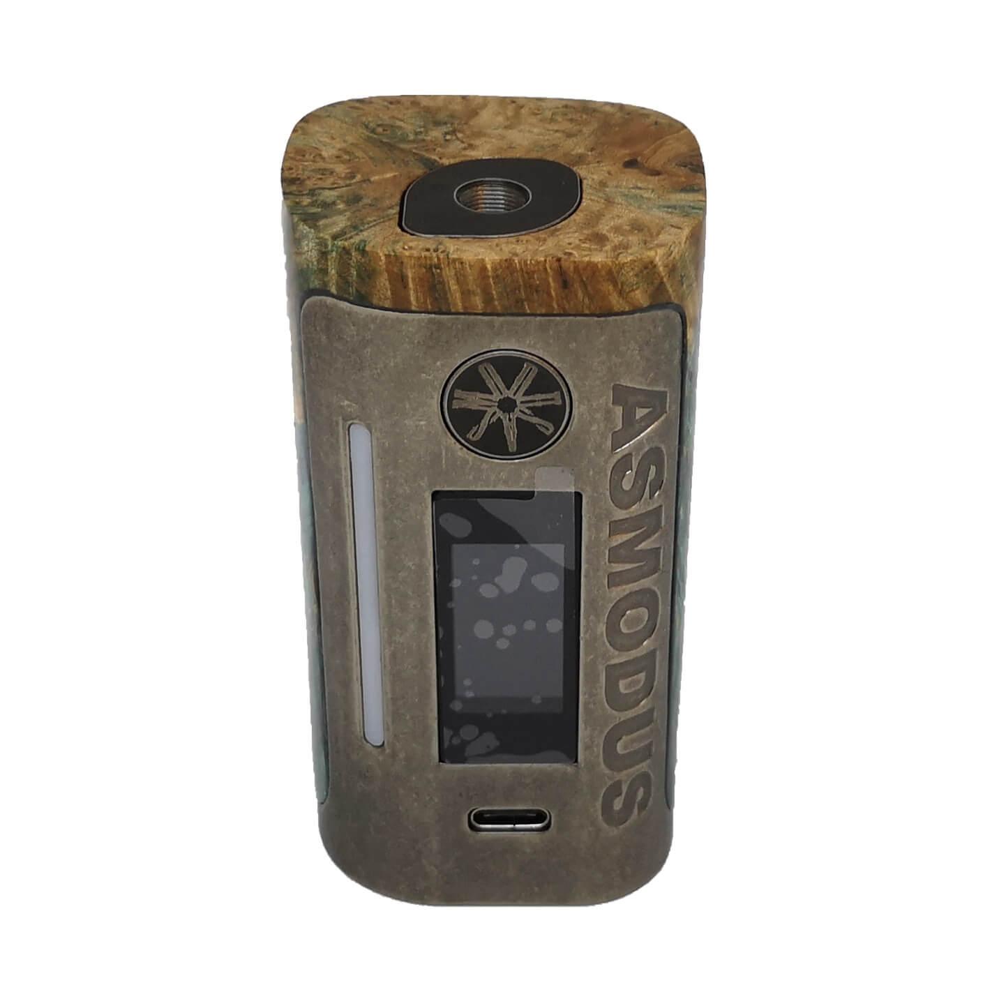 Asmodus Lustro Mod sabiliesiertes Holz Mod Akkutrager regelbar 80W 05 01