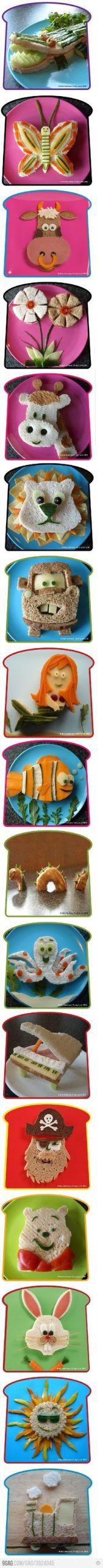 fba53b8d6cade0133d71b6bf948cc6ab kid sandwiches sandwich ideas