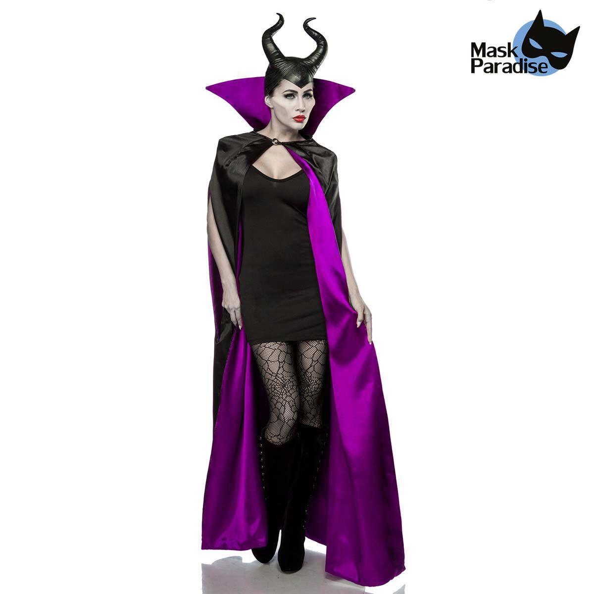 dunkle fee kostum mit hornermaske und umhang vm56 fw3 210 1280x1280