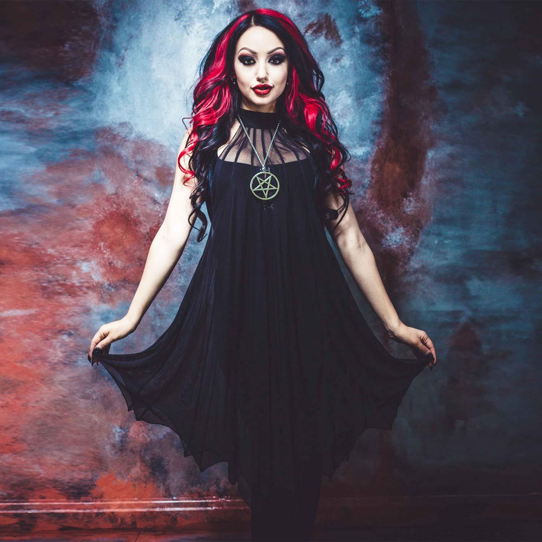 fledermaus netz kleid im gothic style vm55 fw4 171