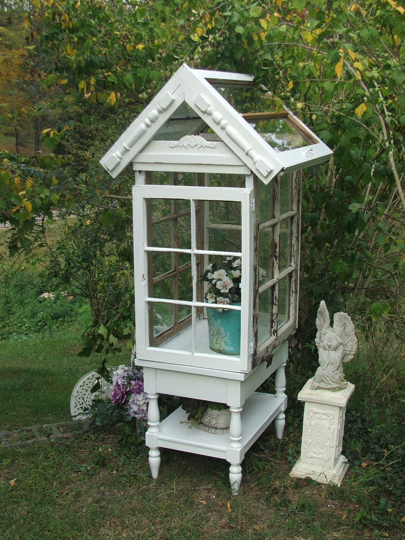 Shabby Gartendeko Schön Mini Greenhouse Cool We Have Lots Of Old Windows Frames