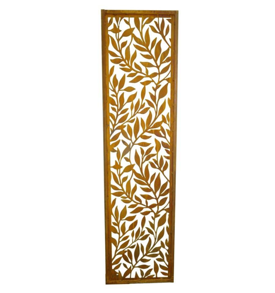 blatterranken paravent schmal hohe 200 cm breite 50 cm mit umrandung