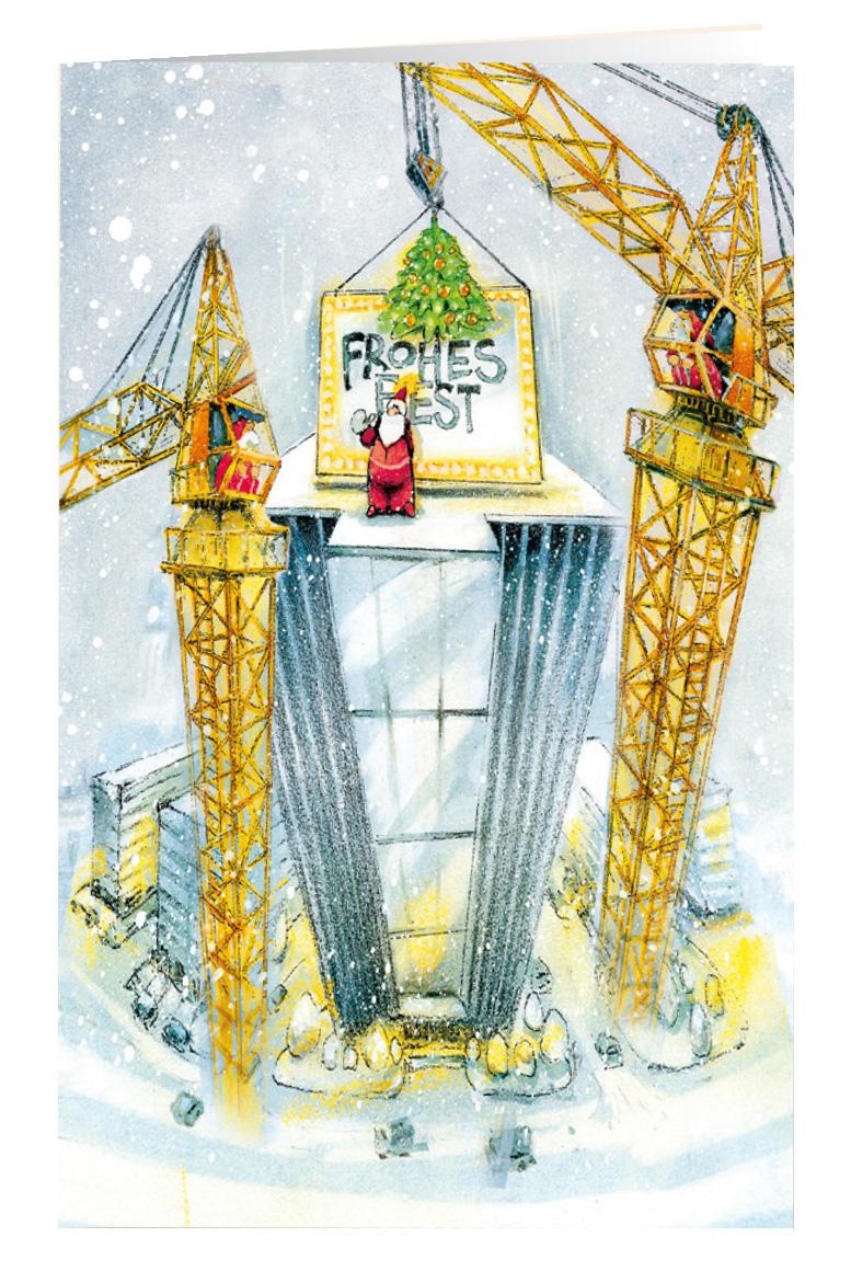 Weihnachtskarte Branchenkarte Hochbau raw cfbb771d03f