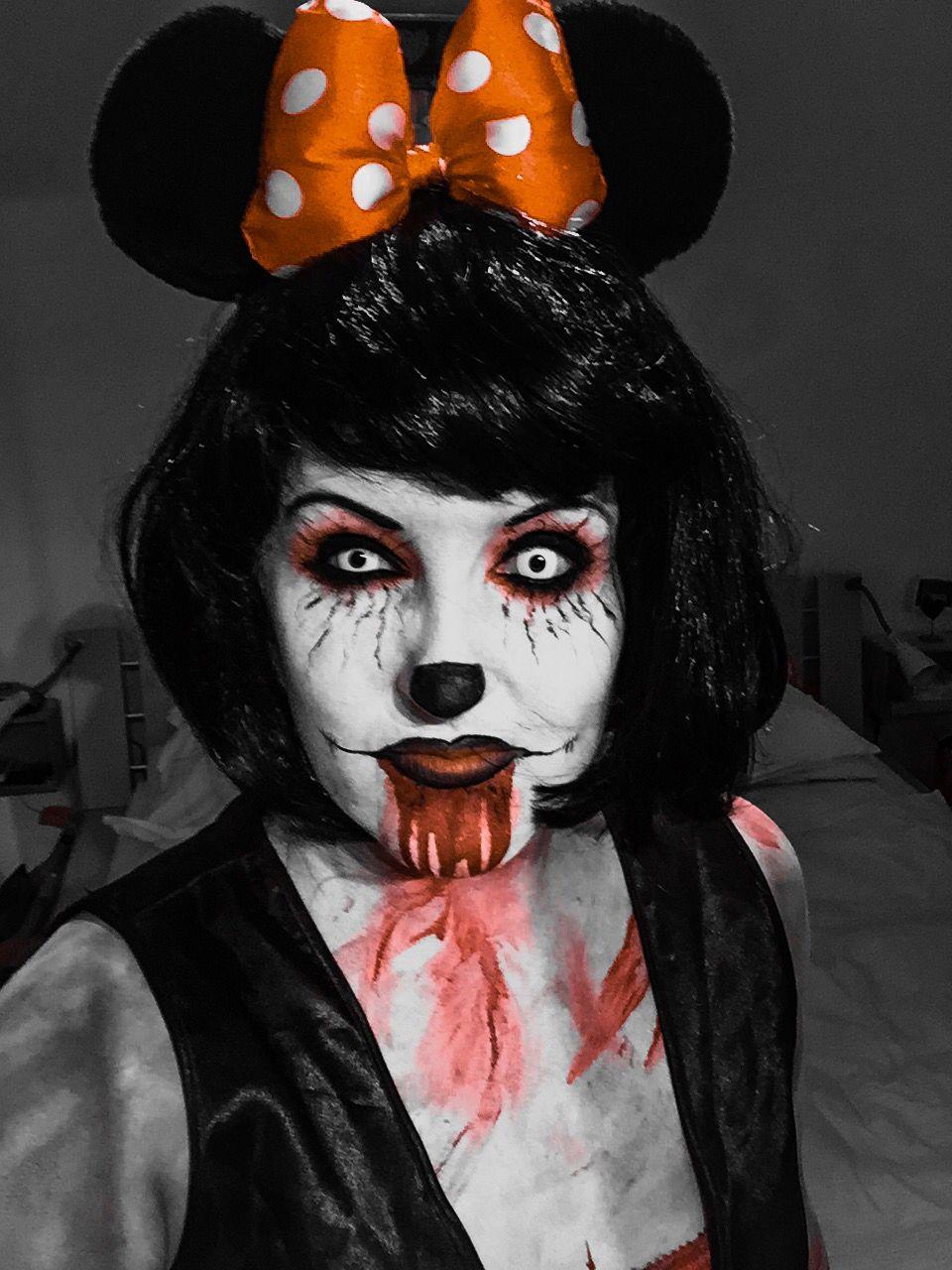 Skelett Anzug Damen Genial Horror Minnie Mouse