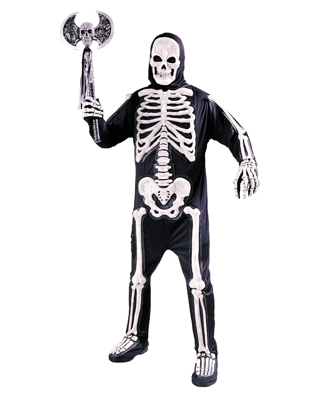 3d skelett kostuem adult