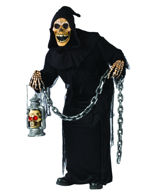 p halloween zombie ghoul skelett kostuem schwarz