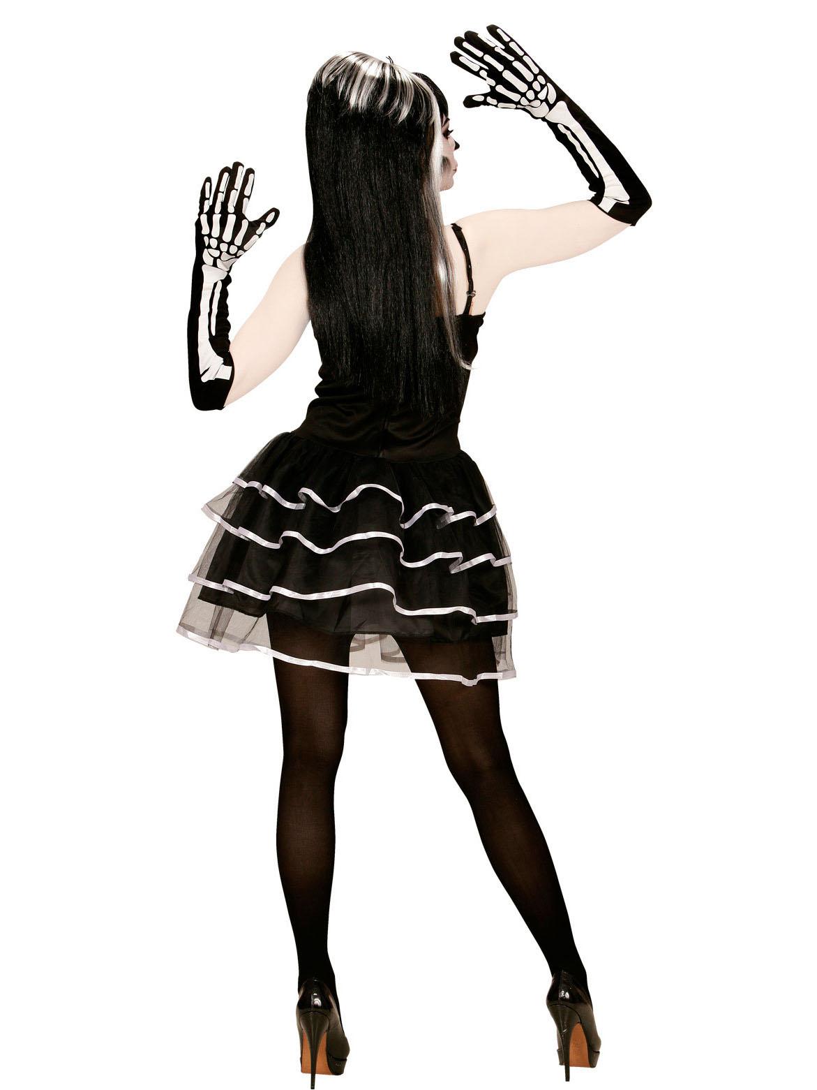 p effektvolles skelett kostuem halloween fuer damen