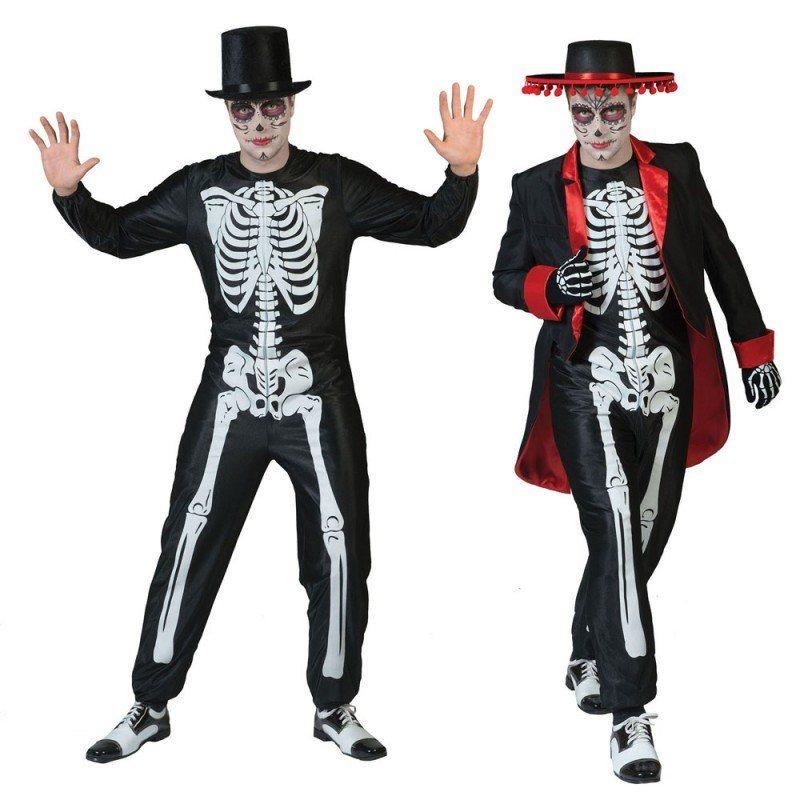 skelett gentleman halloween kostuem
